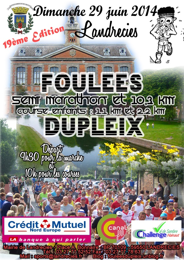 affiche foulees 2014