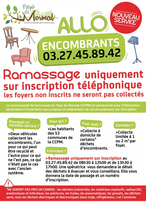 flyer allo encombrants